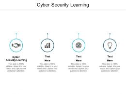 Cyber Security Learning Ppt Powerpoint Presentation Visual Aids Example File Cpb