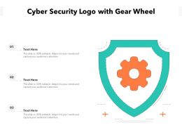 Cyber Security Logo With Gear Wheel