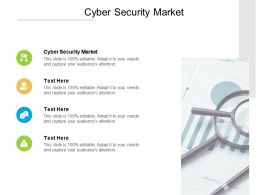 Cyber Security Market Ppt Powerpoint Presentation Inspiration Themes Cpb