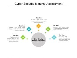 Cyber Security Maturity Assessment Ppt Powerpoint Presentation Inspiration Example Cpb