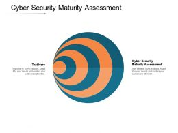Cyber Security Maturity Assessment Ppt Powerpoint Presentation Styles Introduction Cpb