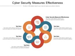 Cyber Security Measures Effectiveness Ppt Powerpoint Presentation Styles Portrait Cpb