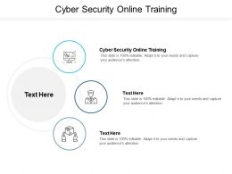 Cyber Security Online Training Ppt Powerpoint Presentation Summary Gallery Cpb