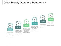 Cyber Security Operations Management Ppt Powerpoint Presentation Professional Cpb