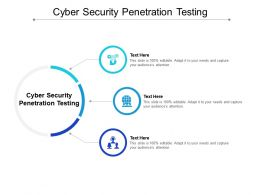 Cyber Security Penetration Testing Ppt Powerpoint Presentation Ideas Structure Cpb