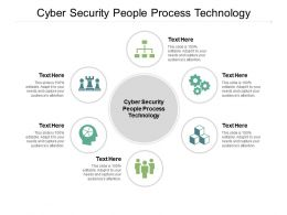 Cyber Security People Process Technology Ppt Powerpoint Presentation File Graphics Template Cpb