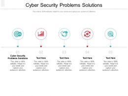 Cyber Security Problems Solutions Ppt Powerpoint Presentation Summary Professional Cpb