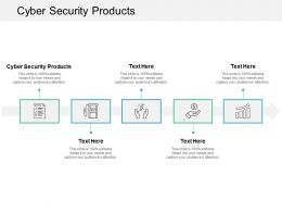 Cyber Security Products Ppt Powerpoint Presentation Gallery File Formats Cpb