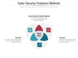 Cyber Security Protection Methods Ppt Powerpoint Presentation Pictures Themes Cpb
