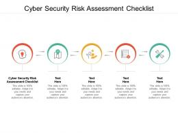 Cyber Security Risk Assessment Checklist Ppt Powerpoint Presentation Professional Brochure Cpb