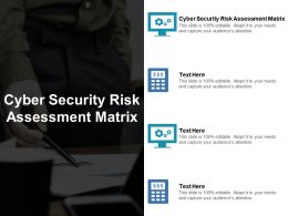 Cyber Security Risk Assessment Matrix Ppt Powerpoint Presentation File Guidelines Cpb