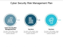 Cyber Security Risk Management Plan Ppt Powerpoint Presentation Gallery Icons Cpb