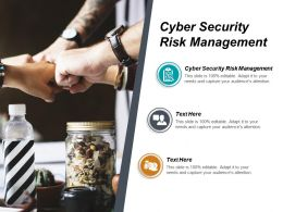 Cyber Security Risk Management Ppt Powerpoint Presentation File Background Image Cpb