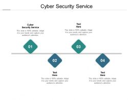 Cyber Security Service Ppt Powerpoint Presentation Pictures Slides Cpb