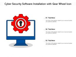 Cyber Security Software Installation With Gear Wheel Icon