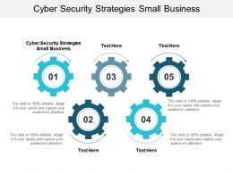 Cyber Security Strategies Small Business Ppt Powerpoint Presentation Demonstration Cpb