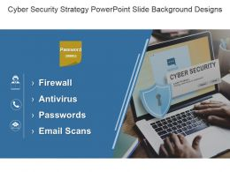 Cyber Security Strategy Powerpoint Slide Background Designs