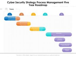 Cyber Security Strategy Process Management Five Year Roadmap