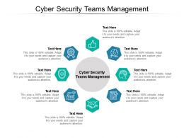 Cyber Security Teams Management Ppt Powerpoint Presentation Summary Cpb