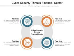 Cyber Security Threats Financial Sector Ppt Powerpoint Presentation File Deck Cpb
