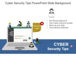 Cyber Security Tips Powerpoint Slide Background