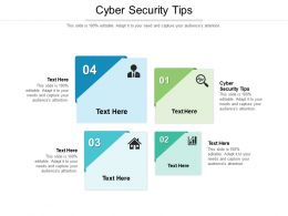 Cyber Security Tips Ppt Powerpoint Presentation File Outline Cpb