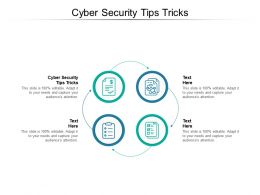 Cyber Security Tips Tricks Ppt Powerpoint Presentation Show Visuals Cpb