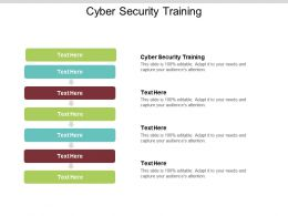 Cyber Security Training Ppt Powerpoint Presentation File Graphics Cpb