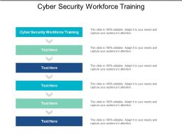 Cyber Security Workforce Training Ppt Powerpoint Presentation File Guidelines Cpb