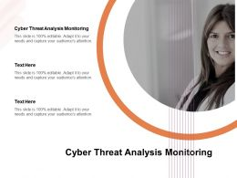 Cyber Threat Analysis Monitoring Ppt Powerpoint Presentation Inspiration Cpb