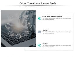Cyber Threat Intelligence Feeds Ppt Powerpoint Presentation Infographic Template Cpb
