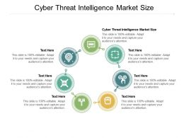 Cyber Threat Intelligence Market Size Ppt Powerpoint Presentation Infographics Graphics Pictures Cpb