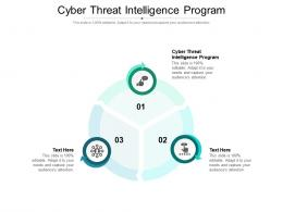 Cyber Threat Intelligence Program Ppt Powerpoint Presentation Visual Aids Infographics Cpb