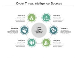Cyber Threat Intelligence Sources Ppt Powerpoint Presentation Infographic Template Graphic Images Cpb