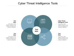 Cyber Threat Intelligence Tools Ppt Powerpoint Presentation Gallery Graphic Tips Cpb