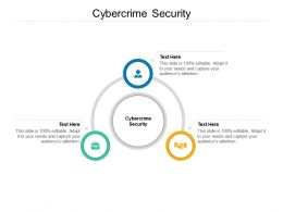Cybercrime Security Ppt Powerpoint Presentation Slides Graphic Tips Cpb