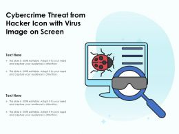Cybercrime Threat From Hacker Icon With Virus Image On Screen