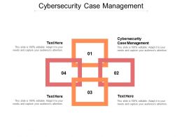 Cybersecurity Case Management Ppt Powerpoint Presentation Portfolio Background Cpb
