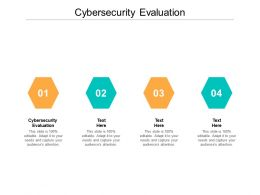 Cybersecurity Evaluation Ppt Powerpoint Presentation Infographic Template Infographics Cpb