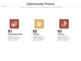 Cybersecurity Finance Ppt Powerpoint Presentation Gallery Objects Cpb