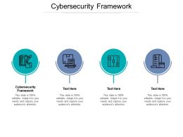 Cybersecurity Framework Ppt Powerpoint Presentation Infographic Template Background Cpb