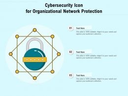 Cybersecurity Icon For Organizational Network Protection