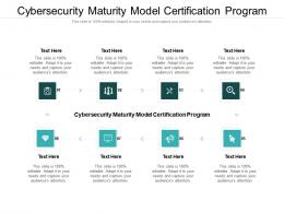 Cybersecurity Maturity Model Certification Program Ppt Powerpoint Presentation Outline Microsoft Cpb