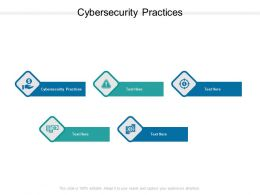 Cybersecurity Practices Ppt Powerpoint Presentation Portfolio Inspiration Cpb