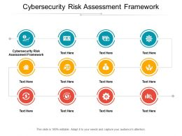 Cybersecurity Risk Assessment Framework Ppt Powerpoint Presentation Inspiration Master Slide Cpb