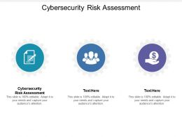 Cybersecurity Risk Assessment Ppt Powerpoint Presentation File Ideas Cpb