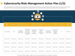 Cybersecurity Risks Management Action Plan Communication Ppt Visual Aids