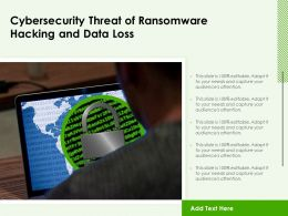 Cybersecurity Threat Of Ransomware Hacking And Data Loss