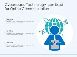 Cyberspace Technology Icon Used For Online Communication