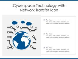 Cyberspace Technology With Network Transfer Icon
